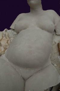 Corps d'une femme enceinte